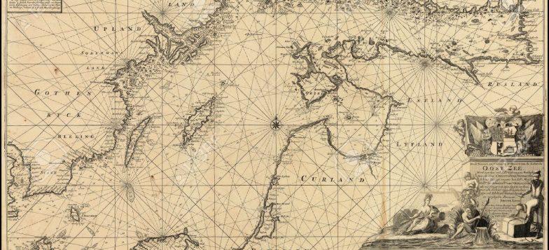 1700-luvulta peräisin oleva kartta Itämeren alueesta