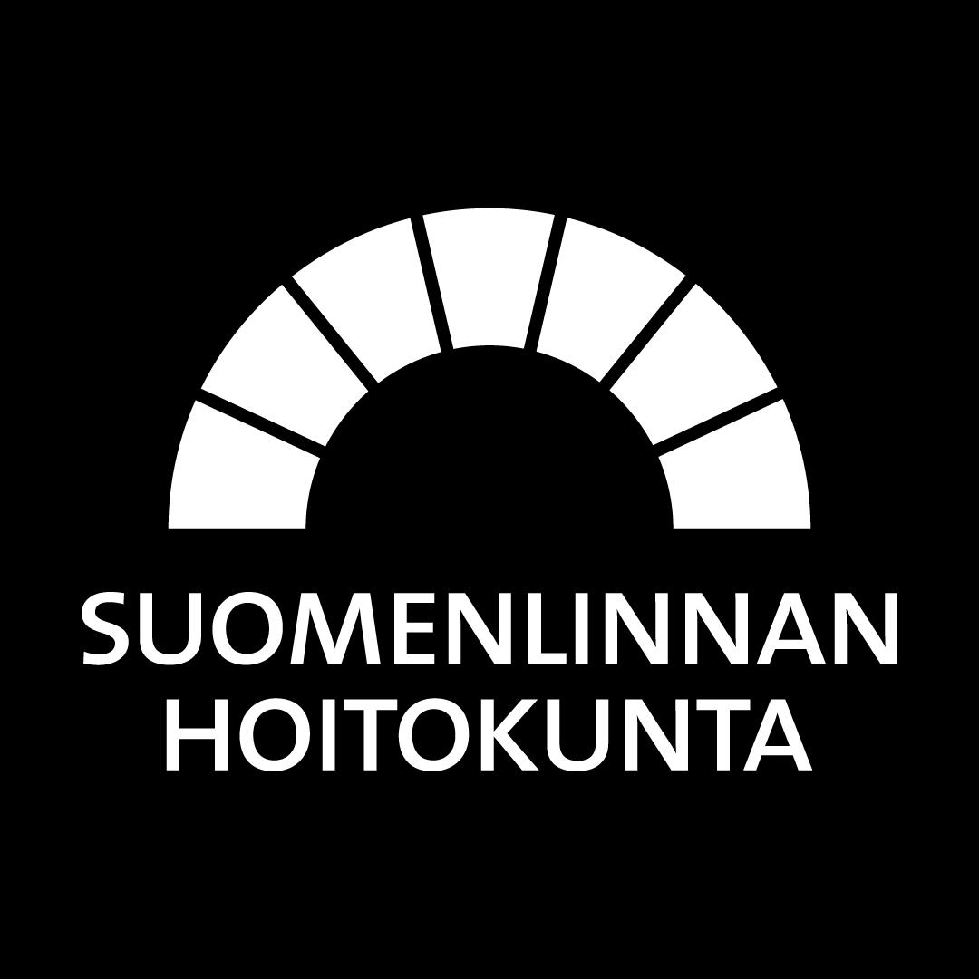 Mustavalkoinen hoitokunnan logo