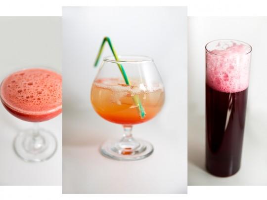 Lähikuvassa kolme alkoholitonta drinkkiä, kuva liittyy juttuun alkoholittomista juomista, sivustolla Ilman syöpää