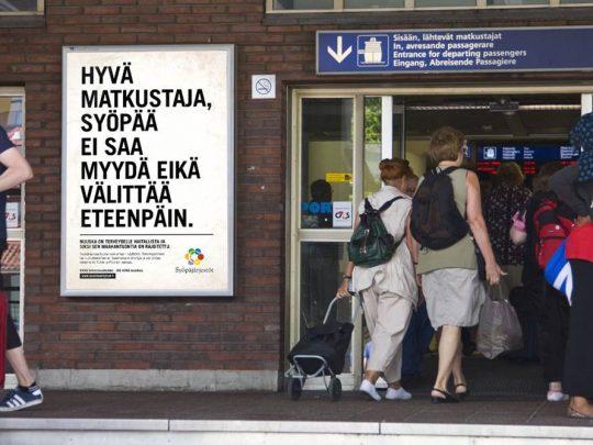 Kampanjakuva Nuuska on syöpä -kampanjaan.