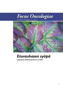 Kansikuva Focus Oncologiae -julkaisusta vuodelta 2010. Aiheena eturauhassyöpä