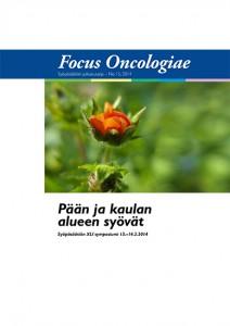 Kansikuva Focus Oncologiae -julkaisusta vuodelta 2014. Aiheena pään ja kaulan alueen syövät.