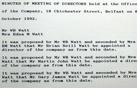 New Drectors 1992 F J Malcom