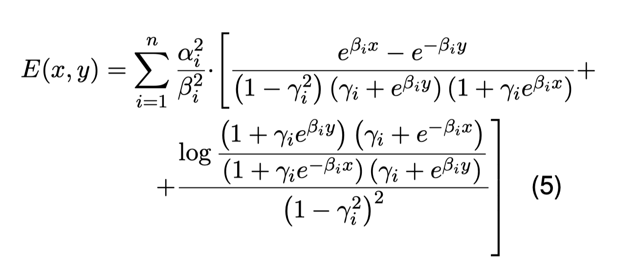 Everett's formula in its closed form