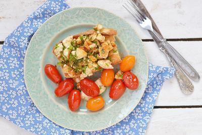 Brötchen mit Tofu & Tomate (vgn)