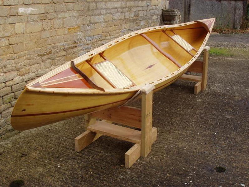 Wooden Canoe Made In The Uk From Strips Not Ply In Oakham Expired