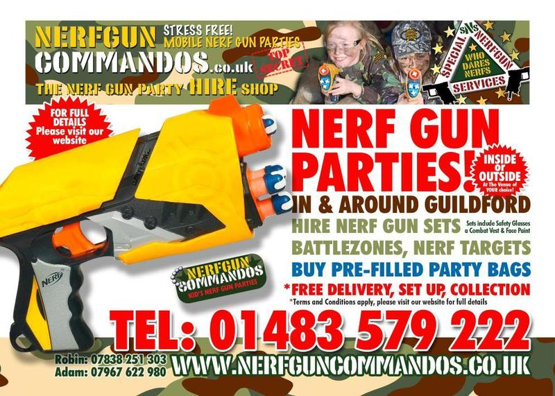 Mobile Nerf Gun Birthday Parties, Nerf Gun & Battlezone Hire - Guildford -  Expired | Friday-Ad