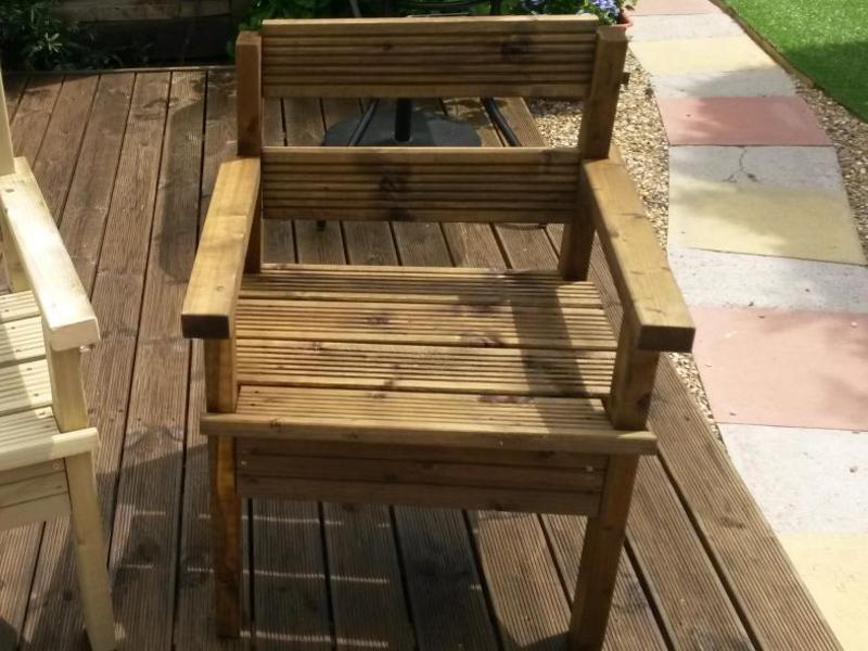 wooden garden chairs handmade in littlehampton expired friday ad