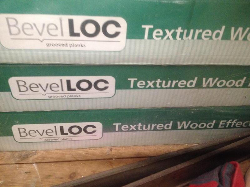 Textured Wood Effect Bevel Loc Floor Master Nearly 4 Pks In Worthing Expired Friday Ad