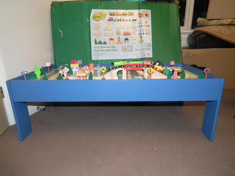 CHAD VALLEY ELEMENTTREE with Over 100 pieces wooden train set with ...
