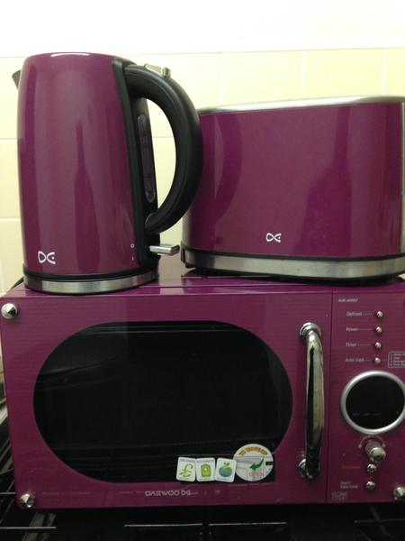 Daewoo Microwave, Kettle and Toaster purple set in Leicester ...