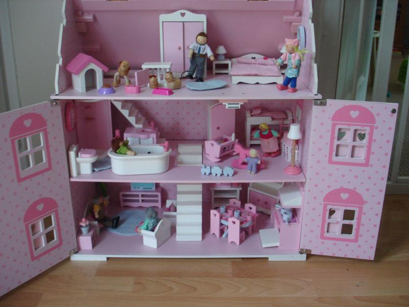 ELC Rosebud Cottage Dolls House With Furniture And Family Sets In VGC In  Haywards Heath   Sold | Friday Ad
