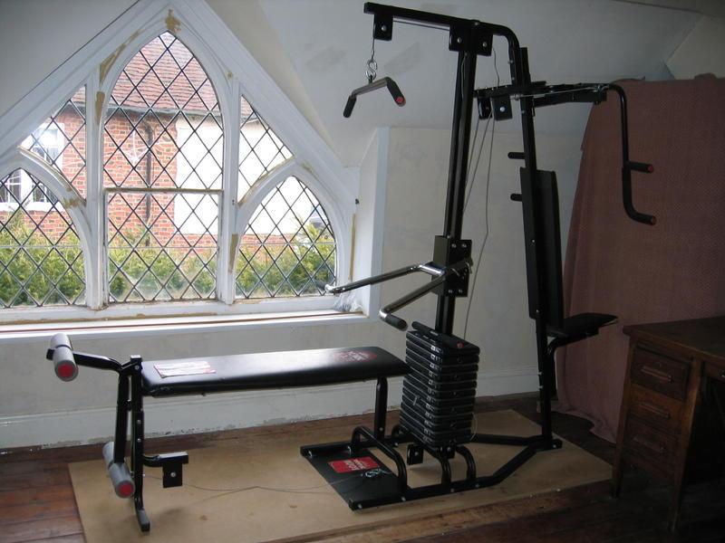 York home gym system plus weider bench weights in redhill
