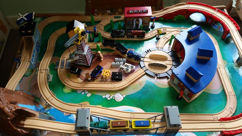 Universe of Imagination Wooden Brio style train table with sound ...