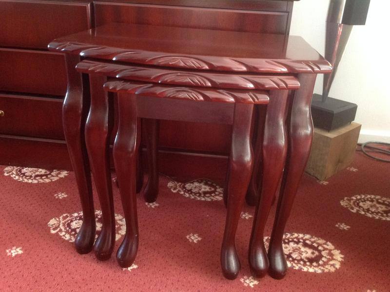 Fabulous John E Coyle Mahogany Nest Of Tables In Ashford Sold Bralicious Painted Fabric Chair Ideas Braliciousco