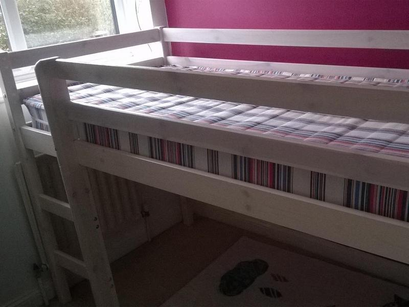 White Mid Sleeper Cabin Bed Shorty In Burgess Hill