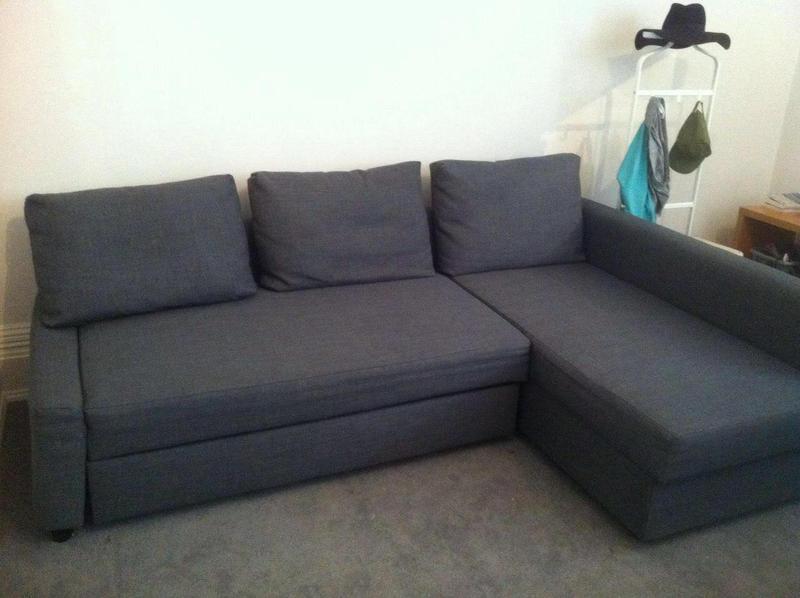 Marvelous Grey Ikea Friheten Corner Sofa Bed With Storage In London Interior Design Ideas Oxytryabchikinfo