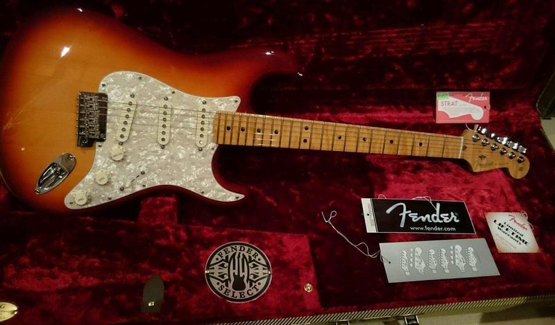 Fender Select Port Orford Cedar Stratocaster in Bushey - Sold