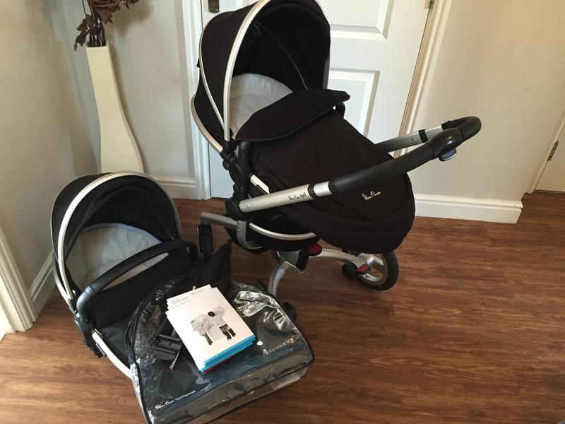 Silver Cross Surf Travel System Pram Carry Cot Accessories And