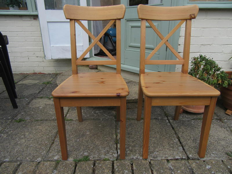 INGOLF Chairs, Solid Pine In Antique Stain.in Good Cond. In Lancing    Expired | Friday Ad
