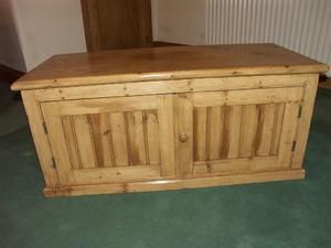 LARGE OLD PINE TV CABINET In Redhill