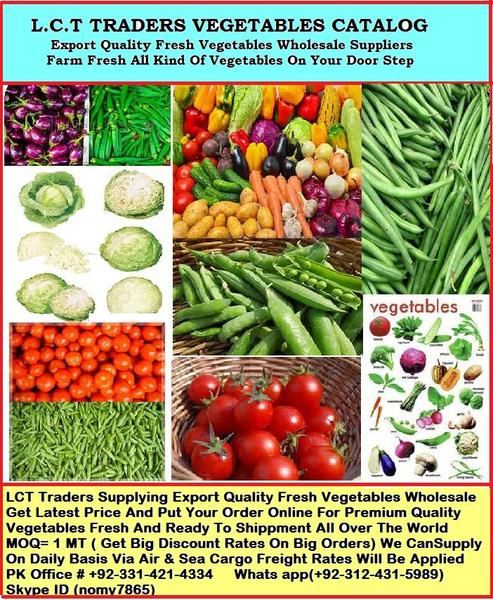 FRESH VEGETABLES AND FRUITS EXPORT QUALITY WHOLESALE in