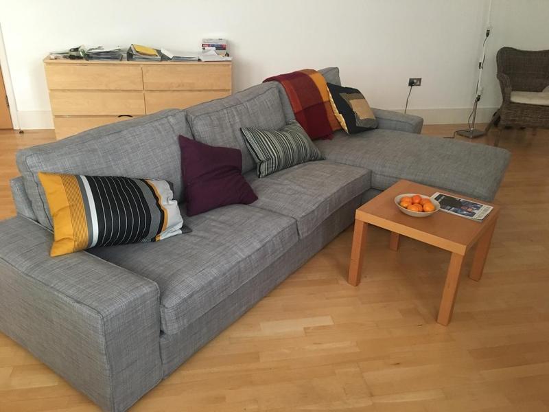 Kivik 1 Seter Kramfors Sofa In Flamingo Park Natural And Kivik Seat