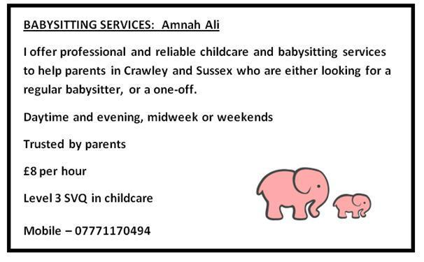babysitting services professional and reliable crawley west sussex crawley expired friday ad
