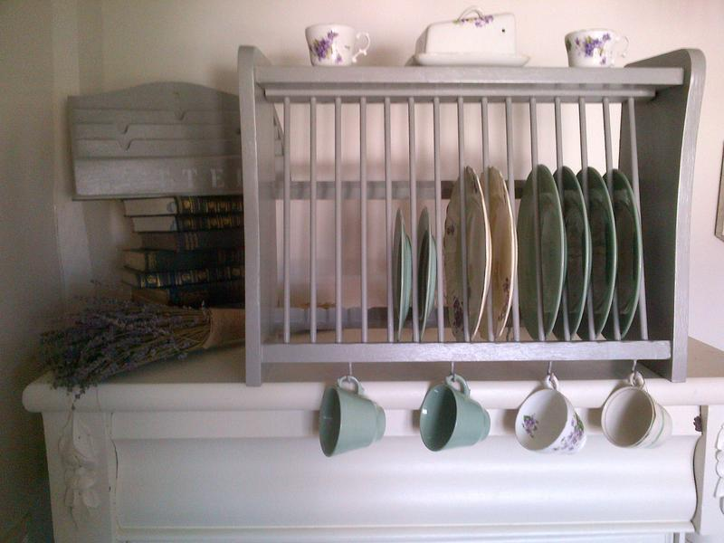 Vintage shabby chic F\u0026B shaker kitchen pine plate rack storage display dresser shelf cup hooks in Peacehaven - Sold | Friday-Ad & Vintage shabby chic F\u0026B shaker kitchen pine plate rack storage ...