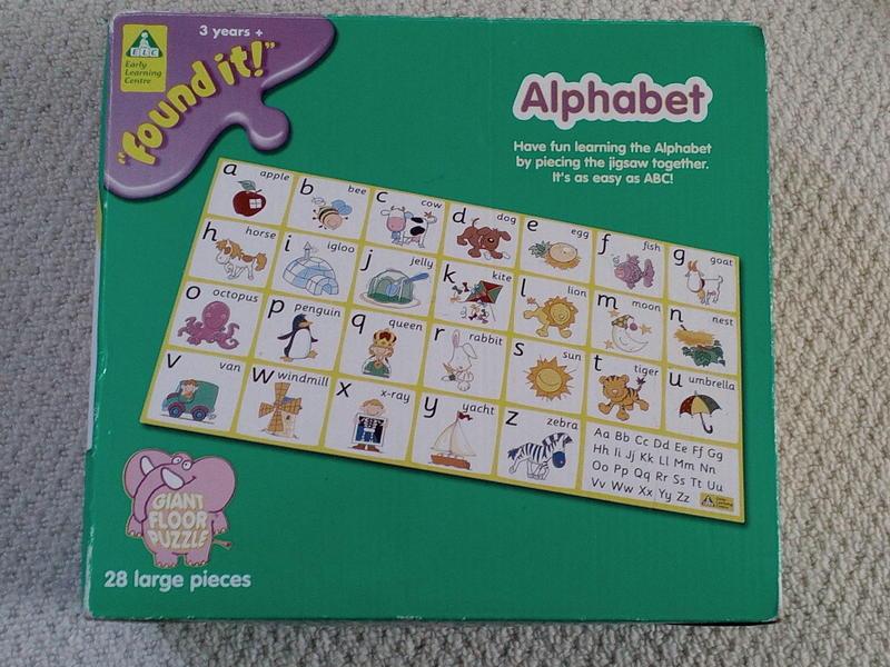 Elc Giant Alphabet Floor Puzzle In Bristol Friday Ad