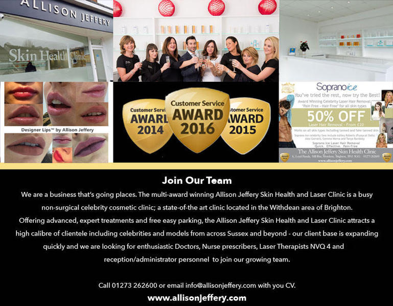 Brighton's No1 Celebrity Skin Clinic Recruiting Now - Medical