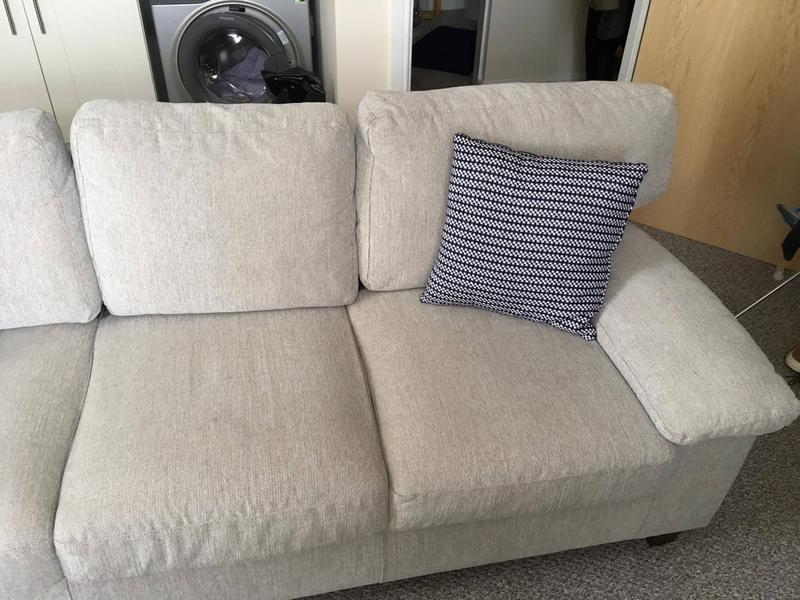 Jysk 3 Seater Sofa Gedser Fabric Sand In Chorley Expired Friday Ad