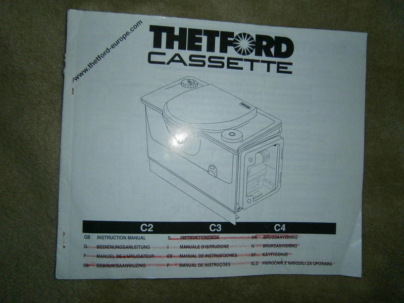 Thetford Cassette Toilet : Thetford cassette toilet instruction manual in port talbot friday ad
