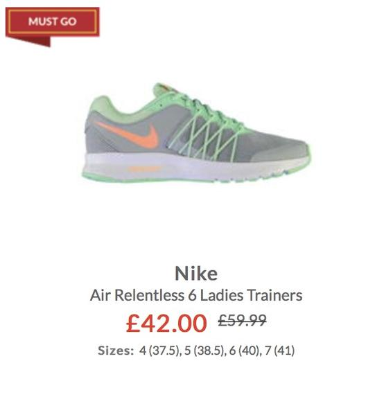 Nike Air Relentless 6 Ladies Trainers on SALE!!! SPORTS DIRECT in London -  Expired  d13461a333