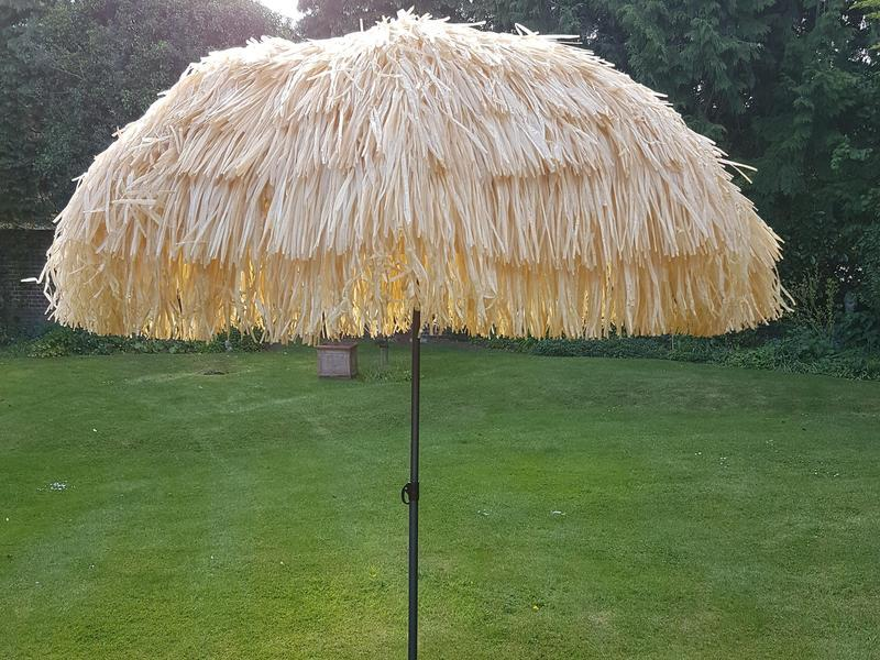 Hawaii Zweefparasol 350.Parasol Natural Raffia Hawaiian Caribbean Style In Burgess Hill