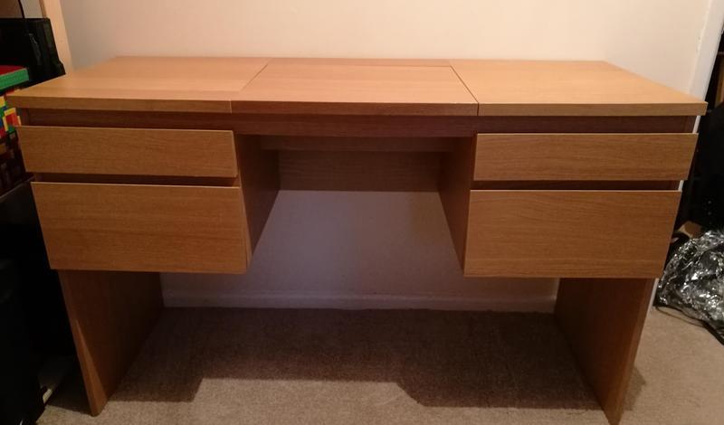 new concept 5f548 c293c IKEA Ransby Dressing Table / Desk Oak Veneer in Bristol ...