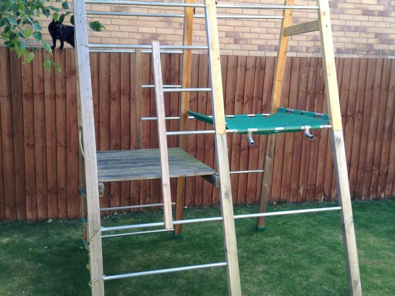 TP 239 forest climber climbing frame and TP 244 forest climber net ...