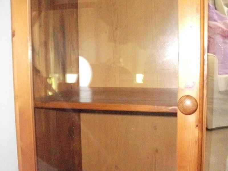 Pine Hifi Cabinet With Glass Door One Shelf In Burgess Hill