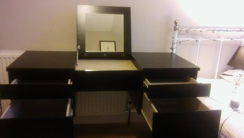 100% authentic 1fc1e 4cd5a Ikea Ransby Dressing Table with mirror (black) in Bristol ...