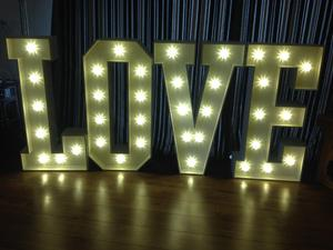 Love Letter Lights Led 4ft For Wedding Hire Uckfield Expired