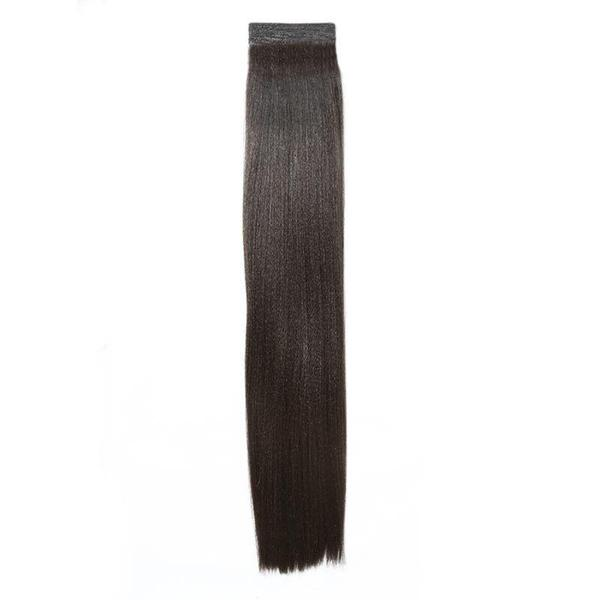Afro Yaki Hair Extensions Weave On Straight 20 Inches Natural