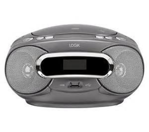 Logik Lcdbm12 Portable Stereo Usb Mp3 Cd Player Fm Radio Boombox