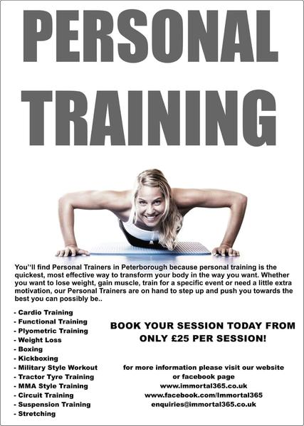 personal training in peterborough friday ad