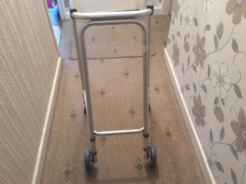 Disability ultra narrow walking frame with wheels in Warrington ...