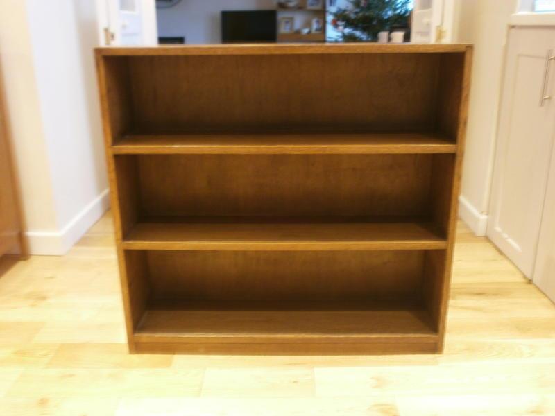 Vintage Oak Bookcase Bookshelf Storage