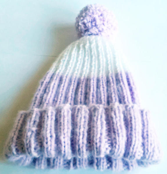 af6a1e86c4b Hand Knitted Baby Hat with Pom-Pom - 3-6 months - New in Redhill ...