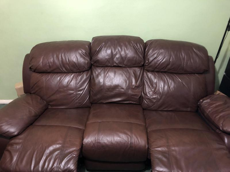 3 PIECES HARVEYS COVEY EXPRESS SOFA WITH MANUAL RECLINER in