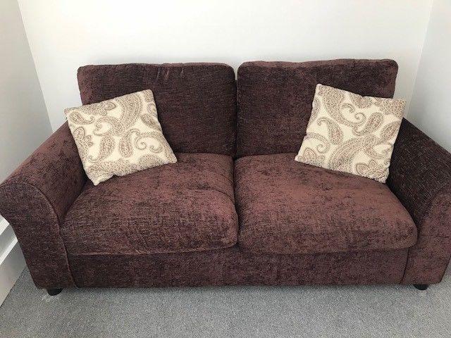 Wondrous Brand New Argos Tessa 2 Seater Fabric Sofa Bed Chocolate Machost Co Dining Chair Design Ideas Machostcouk