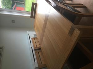 Solid Oak Dinning Table With 6 Chairs In Yarm