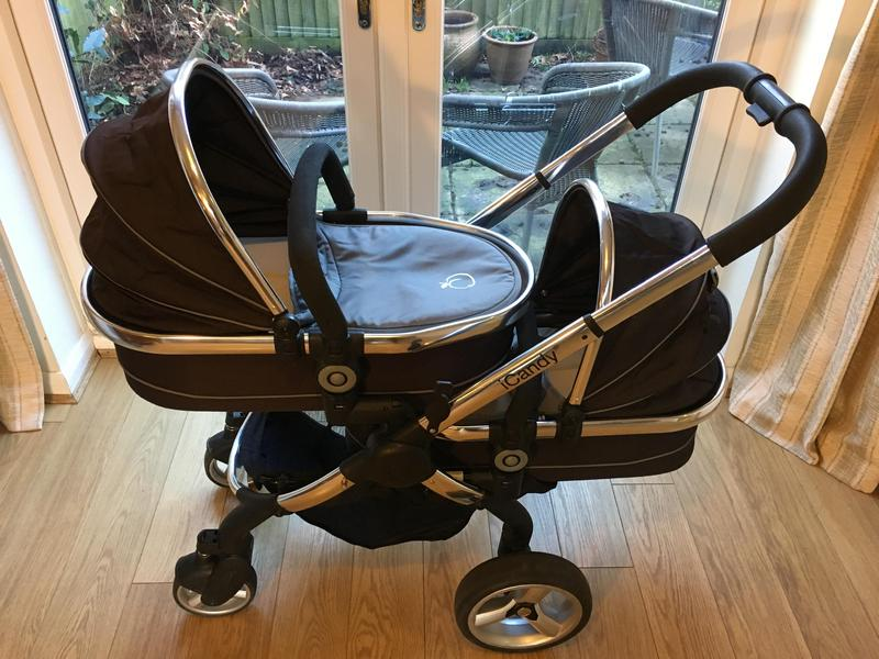 551a938e7a45 iCandy Peach Blossom Twin Black Jack Pram   Pushchair in Crowborough -  Expired